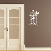Vintage Bird Cage Birdcage Wall Sticker - Bird Flying from ...