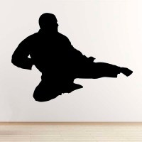 Flying Kick Wall Sticker - Taekwondo / Karate / Mixed ...