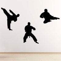 Martial Arts Wall Sticker - Pack of 3 Karate / Taekwondo ...