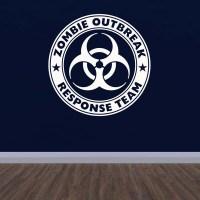 Zombie Outbreak Response Team Wall Sticker. Kids / Teen ...