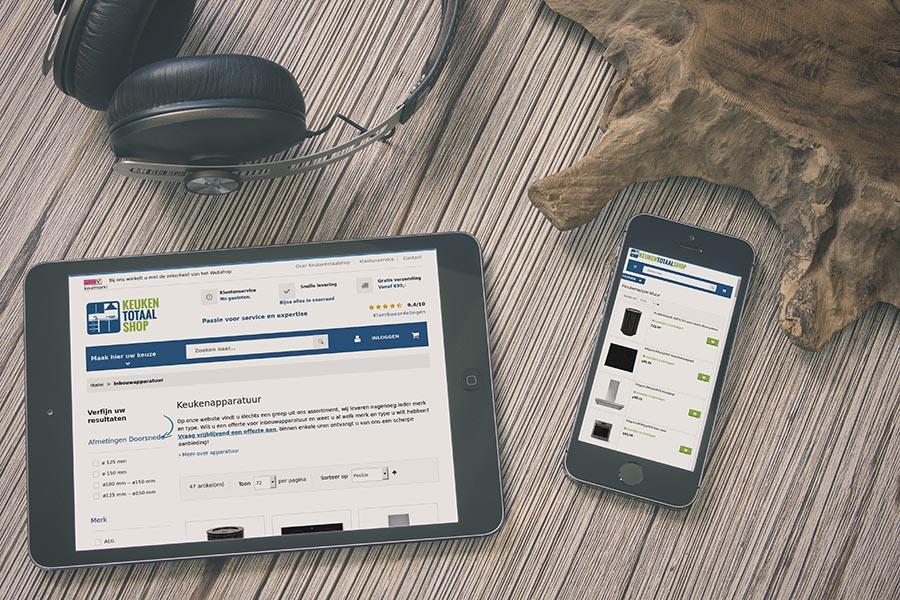 Jouw webshop wordt ook op smartphones en tablets mooi weergegeven