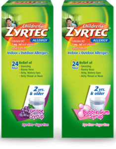 Use only as directed also children   zyrtec allergy syrup rh