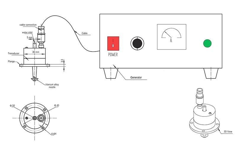 China 50Khz Ultrasonic Spray Atomizer Suppliers