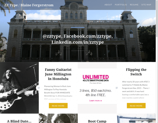 zztype.com home page, June 2016