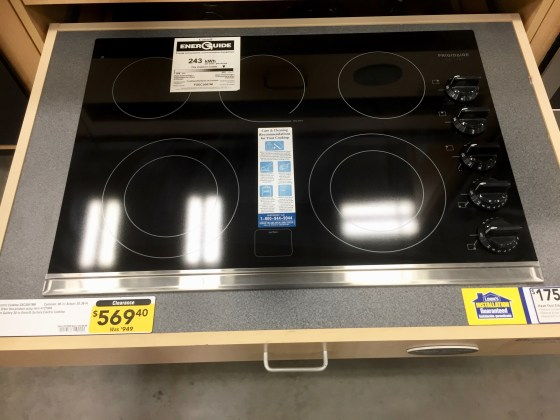 First countertop range from Lowe's. $569.