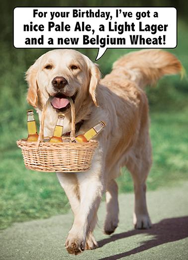 Funny Birthday Ecard Golden Beers From