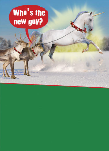 "Funny Christmas Card ""The New Guy"" From CardFool Com"