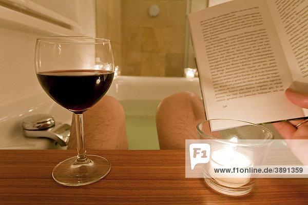 Lesen Badewanne
