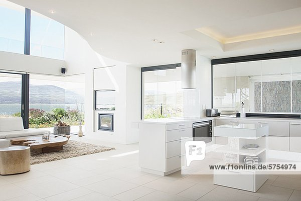 kuche mit wohnzimmer modern haus design ideen