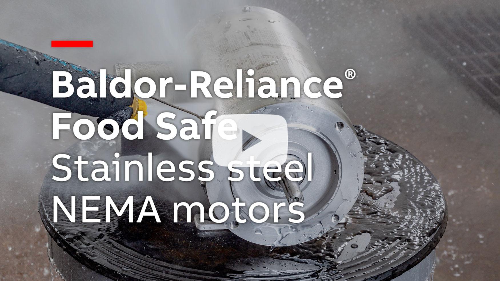 baldor reliance food safe stainless steel nema motors watch video [ 1750 x 984 Pixel ]