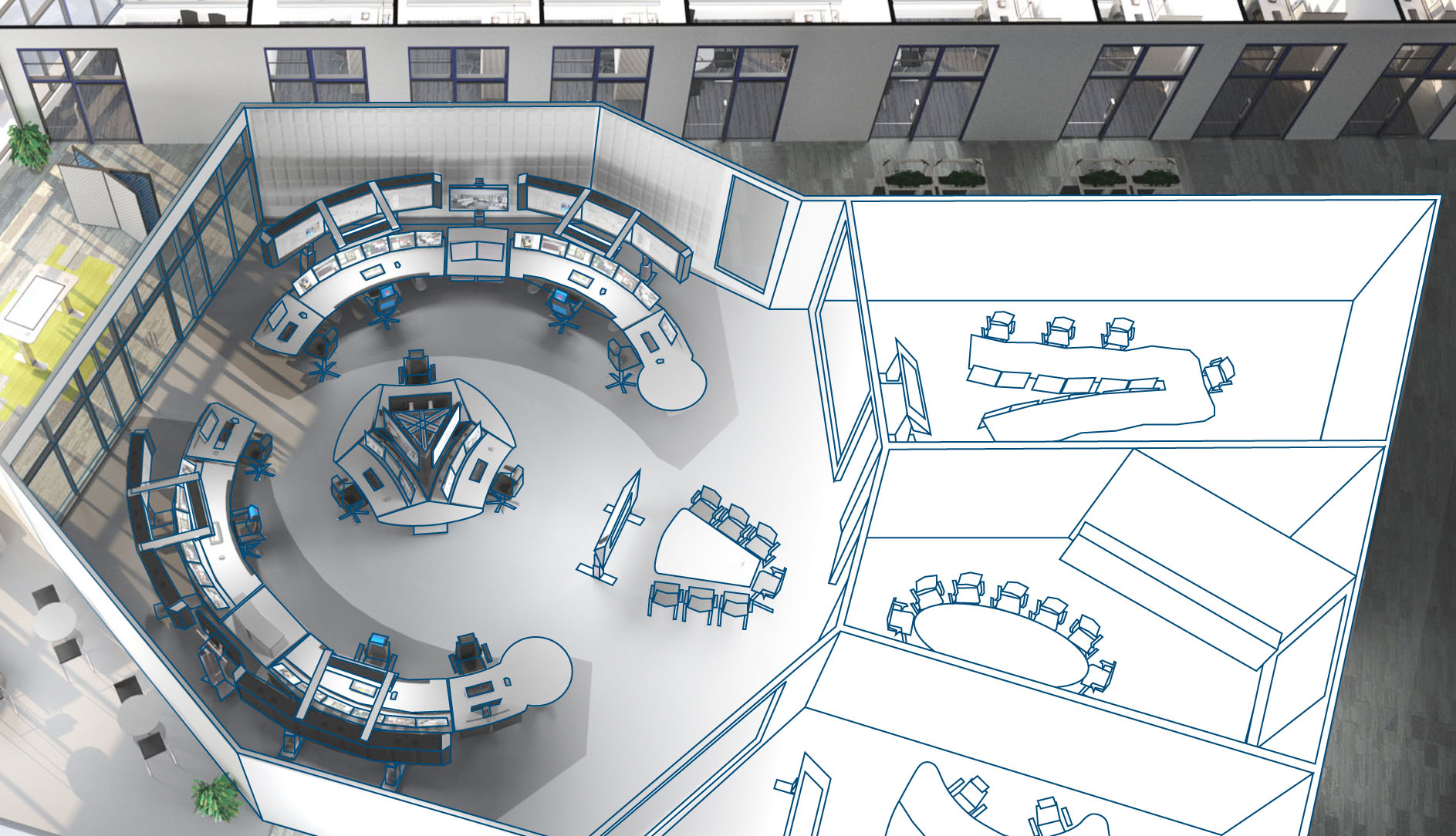 hight resolution of control room design