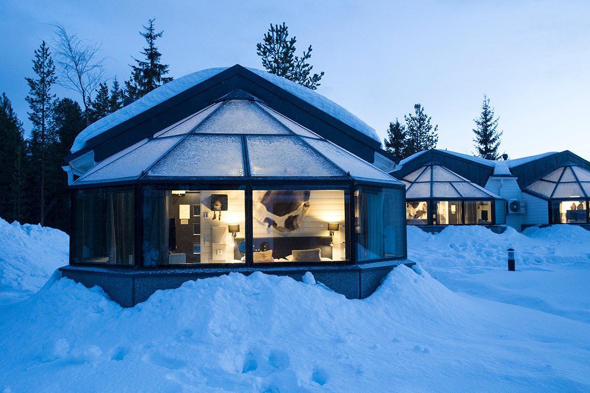 Arctic Eye Glass Igloos Santa' Hotels - Project