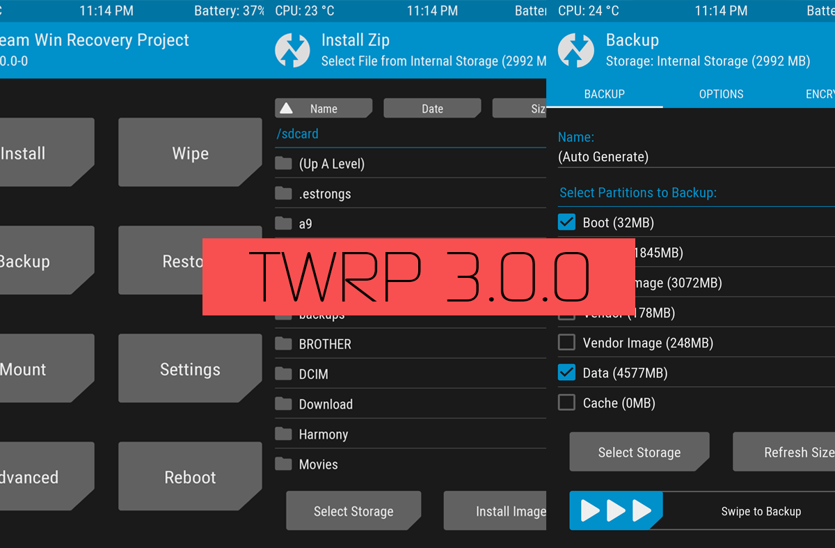 TWRP 3 2 1-0 for Grand 2 [Custom Recovery] [Updated