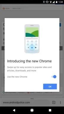 Chrome Home UI