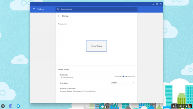 Chrome OS Display Size Slider