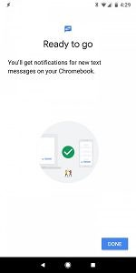 Android Chrome OS SMS Sync Integration