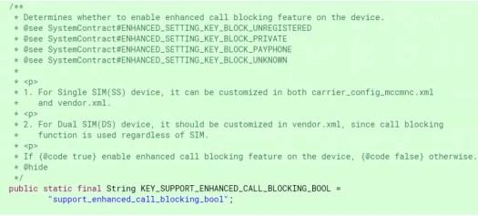 Android P Call Blocking