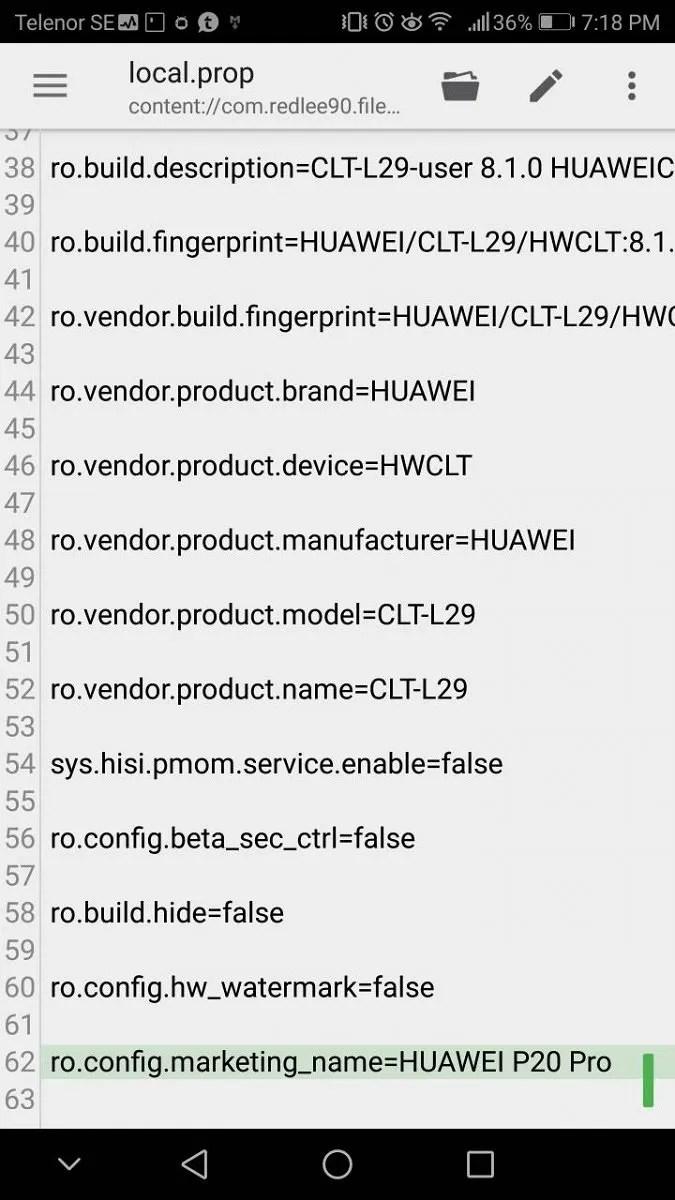 Huawei P20 Pro Leaked Firmware