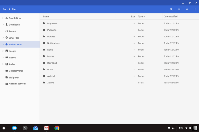 Chrome OS Android Files
