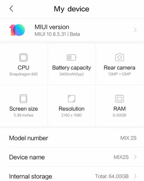 89cba68e9ae How to install MIUI 10 on the Xiaomi Mi Mix 2 2S