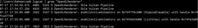 Android Q Vulkan UI Rendering