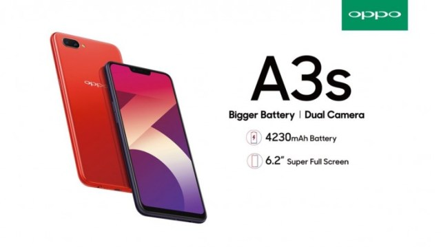 Oppo A3s is official with 4,230 mAh battery and 6 2-inch