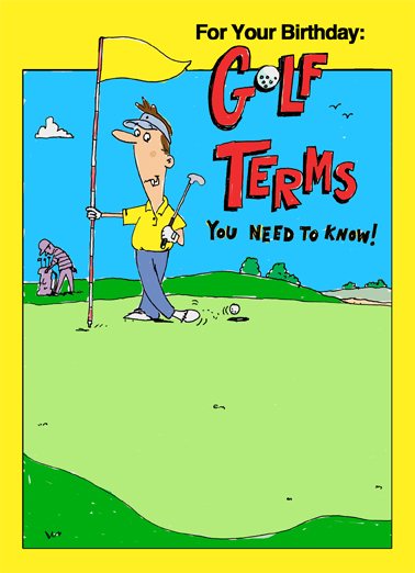 "Funny Birthday Card ""Birthday Golf Terms"" From CardFool Com"
