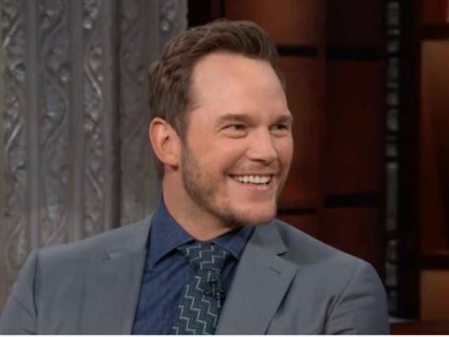 """Actor Christ Pratt. (Image credit: """"The Late Show with Stephen Colbert""""/YouTube)"""