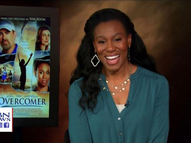 """Priscilla Shirer is one of the stars of the new faith-based movie """"Overcomer,"""" which opened in theaters Wednesday. (Image credit: CBN News)"""