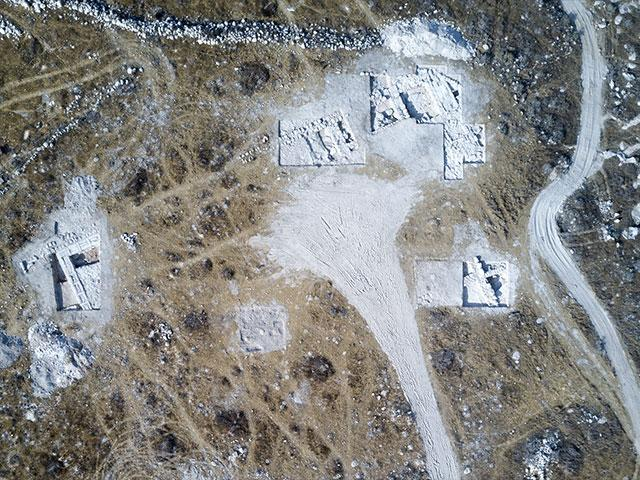 Aerial View of 2,200-Year-Old Idumean Structure, Photo, IAA