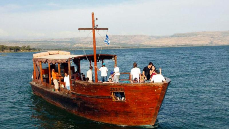 Worship Boat on the Sea of Galilee Photo Credit: GPO