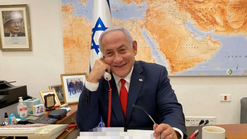 Prime Minister Benjamin Netanyahu holds first official call with President Joe Biden. Feb 17, 2021.