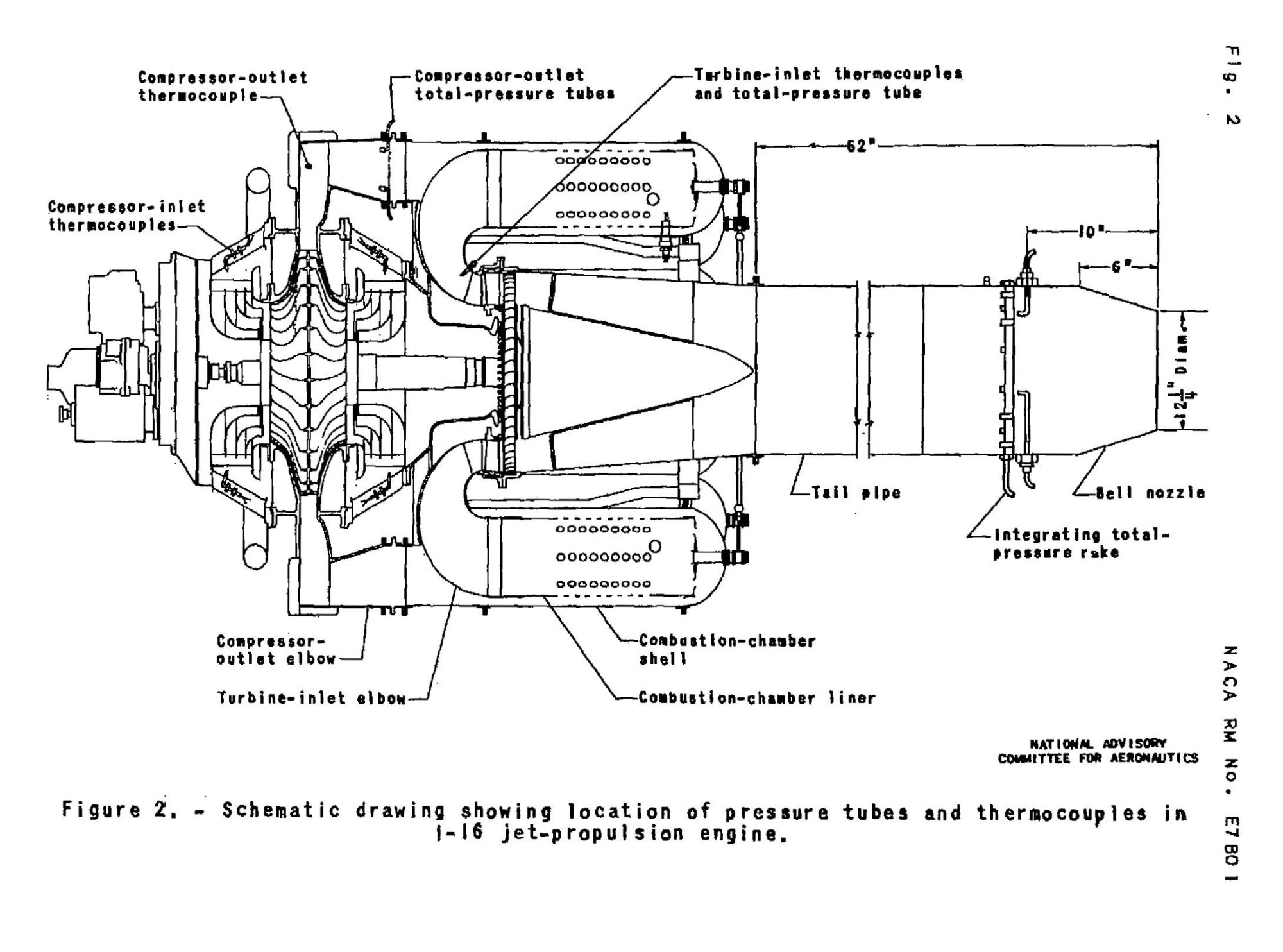 hight resolution of naca diagram of the general electric i 16 j 31 engine