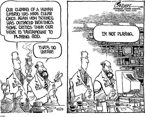 Bioethics: Bioethics humor-tests, pills, insurance...