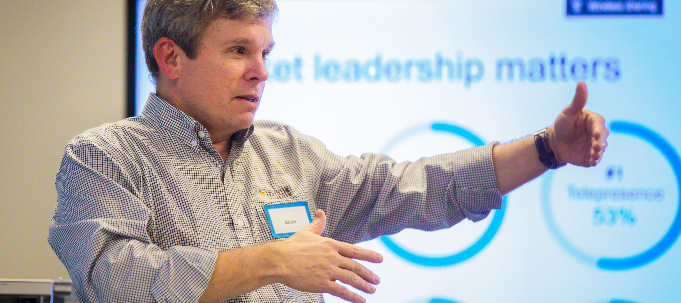 Scott Scheeler '86, Vice President Of Switching Hardware At Cisco Systems,  Told Students There Are Advantages To Working At Both Startups And  Established