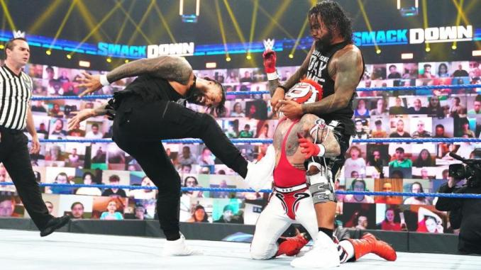 SMACKDOWN: Rey & Dominik Mysterio Def. The Usos In A Smackdown Tag Team Title Match