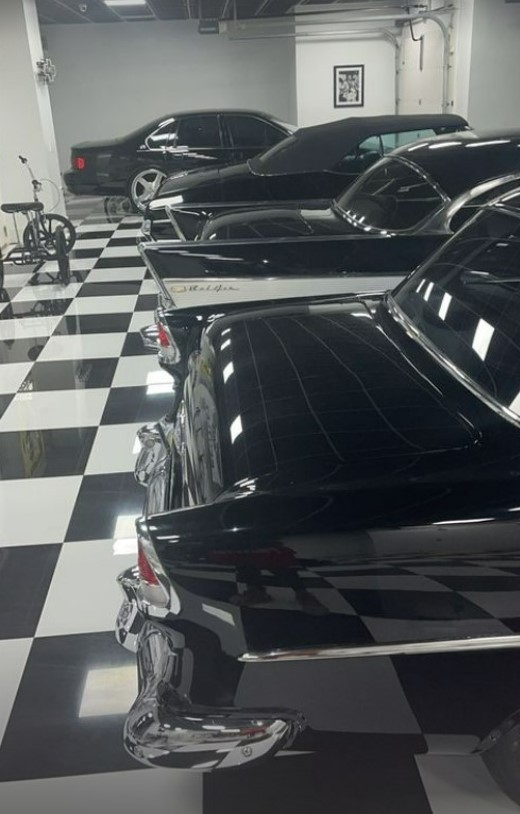 Rick Ross Showing His All-Black Chevy Collection