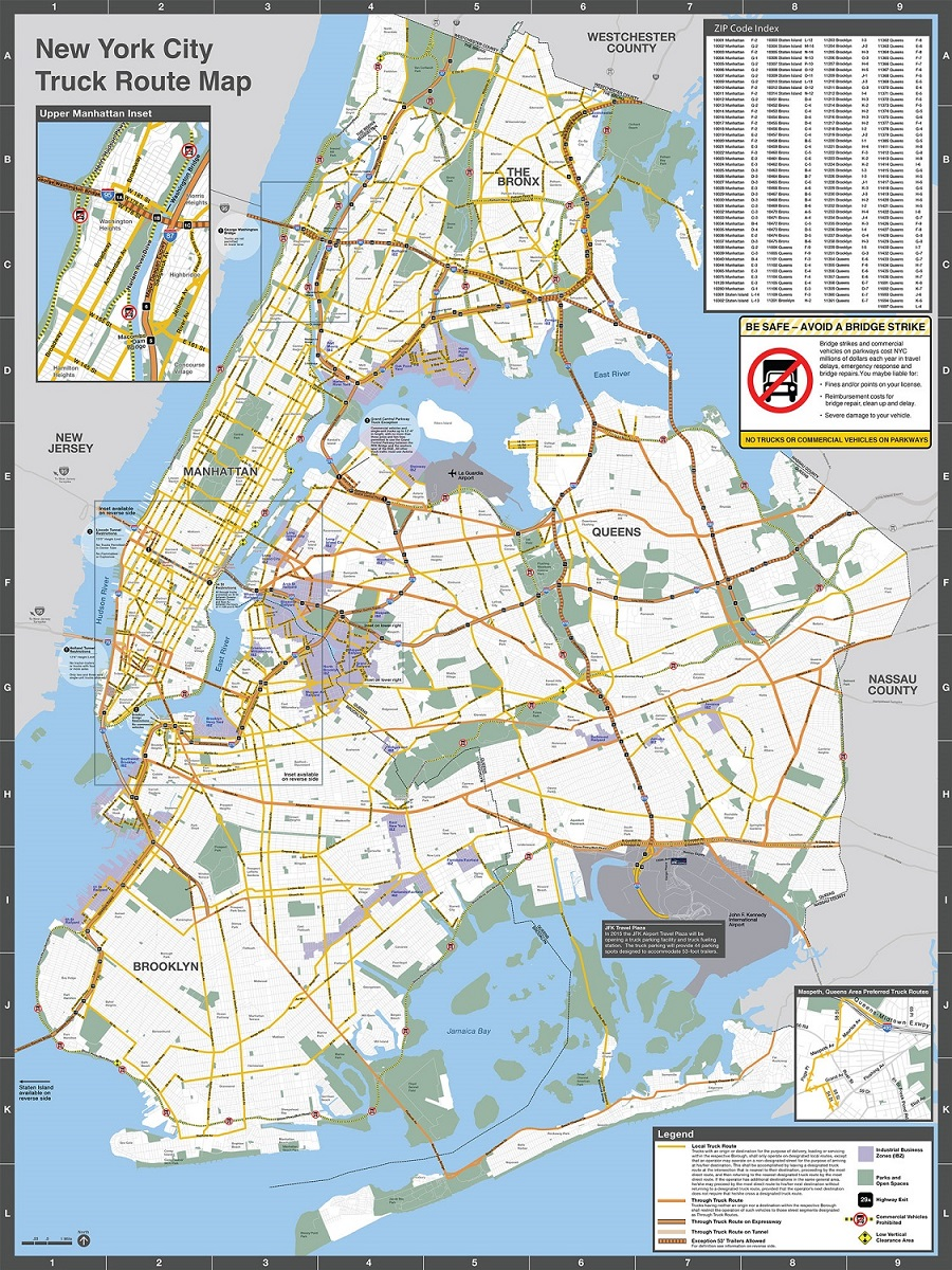 medium resolution of truck map front