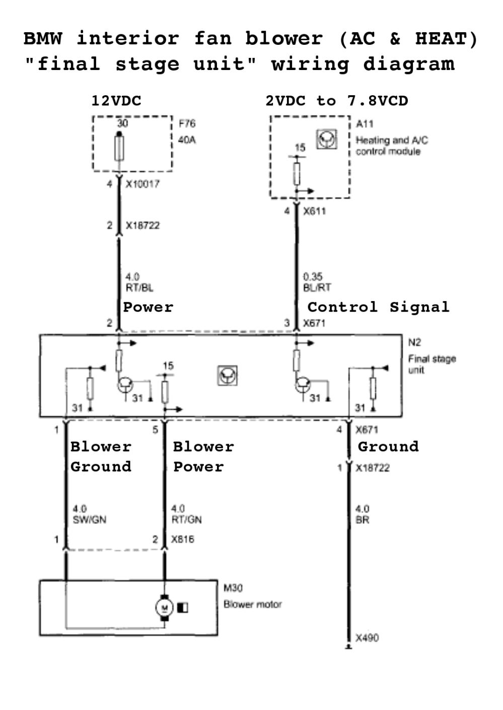 medium resolution of bmw blower motor wiring diagram wiring diagram bmw blower motor wiring diagram