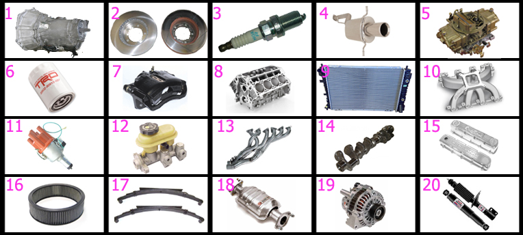 Grease Monkey Car Parts images Quiz  By jjb