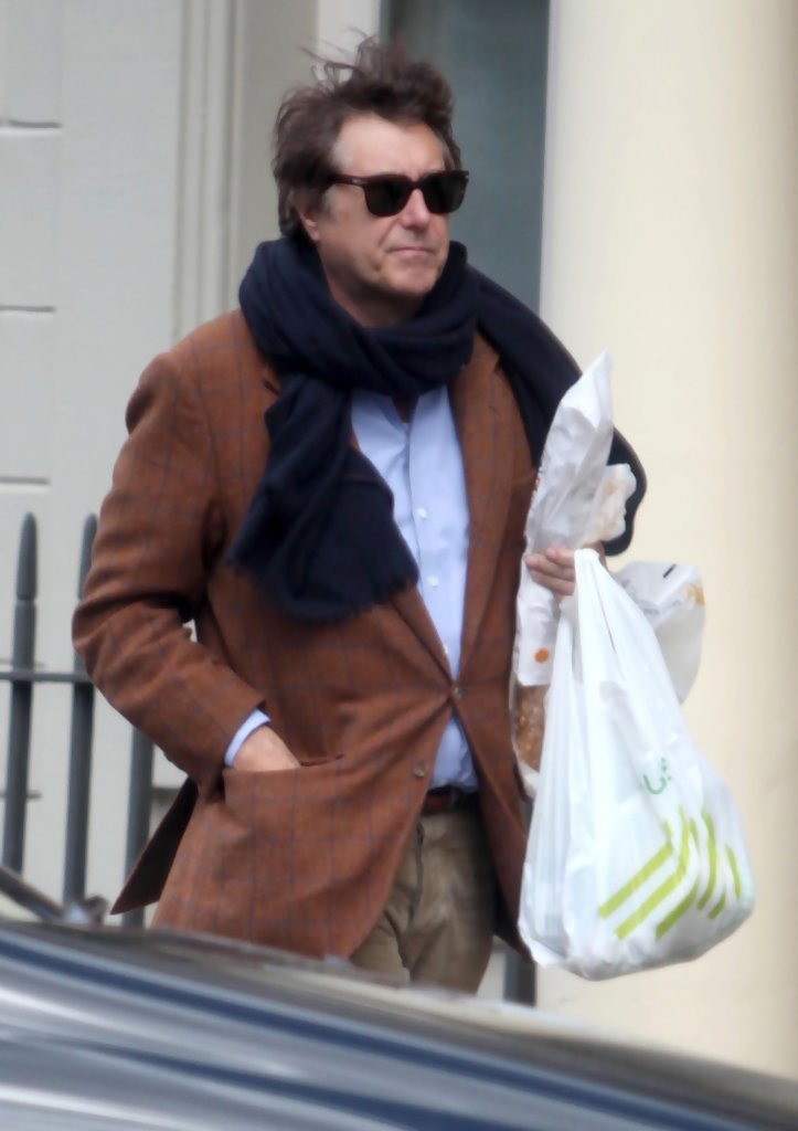 Bryan Ferry Returning Home With Groceries Zimbio