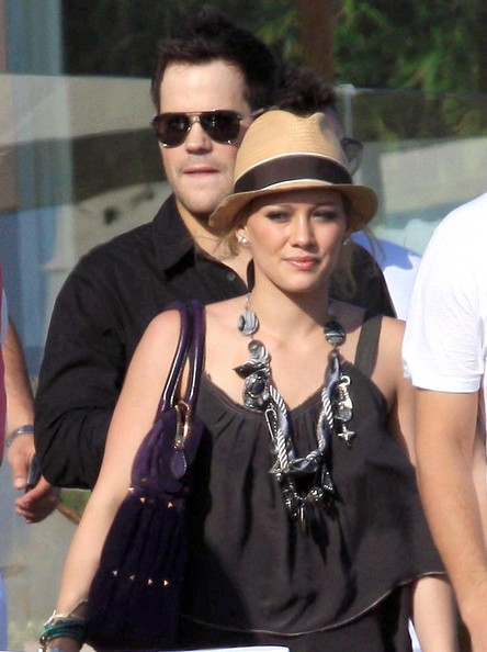 Mike Comrie in Hilary Duff At A Beach Party In Malibu