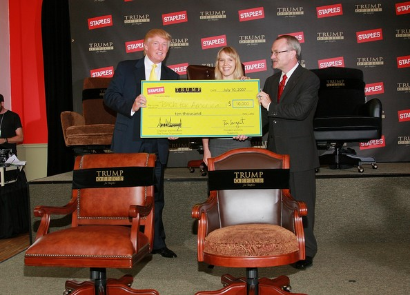 desk chair york domore office donald trump and ron sargent photos - launches for staples zimbio