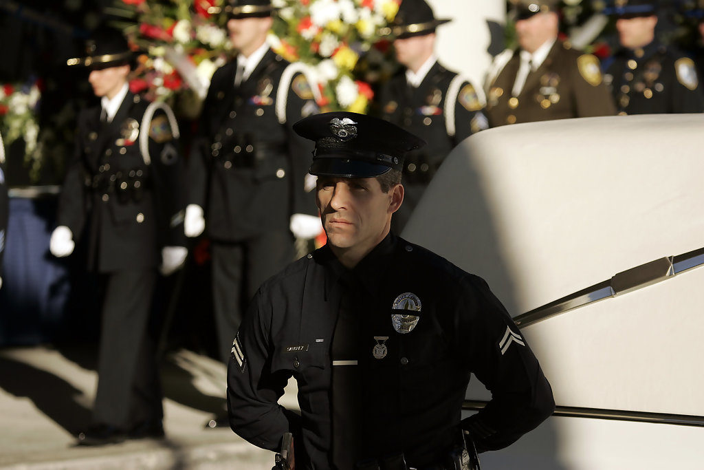 Mourners Remember First LAPD SWAT Officer Killed In Line Of Duty  Zimbio