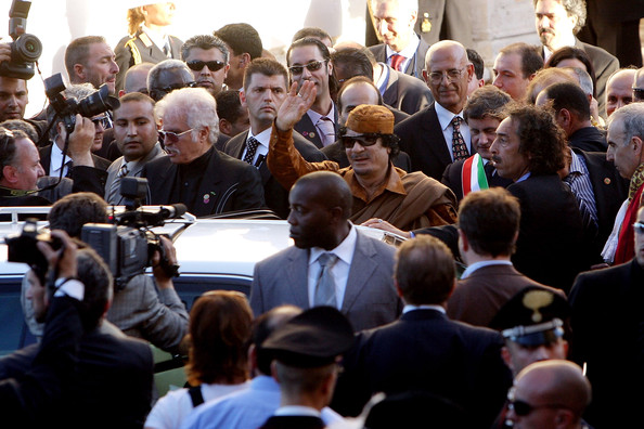 Muammar al-Gaddafi - Muammar Gaddafi Tours Rome During His Historic Visit
