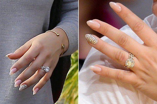 Check Out Kaley Cuocos GORGEOUS Wedding Bling  Nails