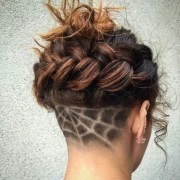spider web - undercut hair design
