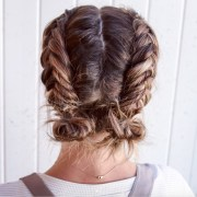 double dutch fishtail buns - perfectly