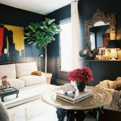 Living Room Decorating With Dark Furniture Grey Sofa Ideas How To Decorate Walls Lonny