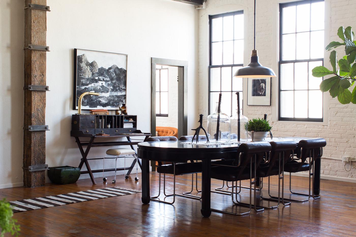 industrial dining table and chairs stool chair green vintage room photos 24 of 57